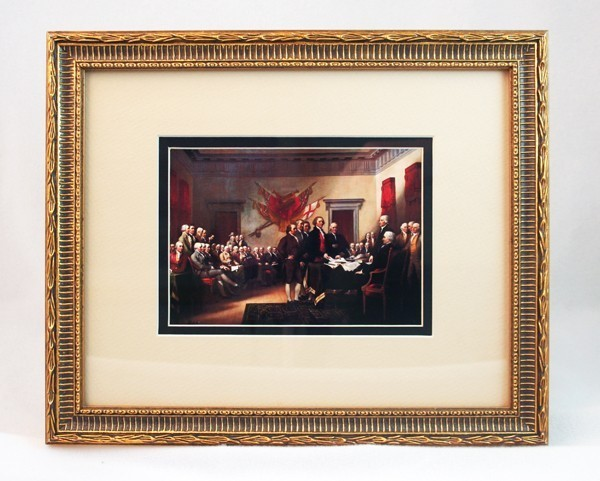 Framed Signing of the Declaration Postcard