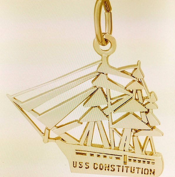 14k Constitution Charm