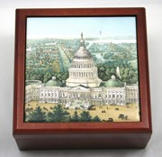 Capitol Wood Tile Jewelry Box