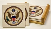 Great Seal Coasters with Tray