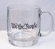 We the People Glass Mug