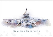 Capitol Watercolor Holiday Cards