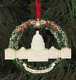2003 Marble & Wreath Ornament