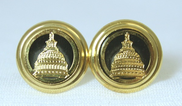Onyx Etched Capitol Cufflinks