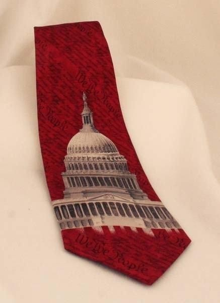 Deep Red Capitol Dome Tie