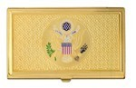 Great Seal Business Card Case - Gold
