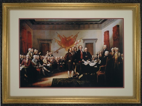 Signing of the Declaration of Independence (Gold Frame)