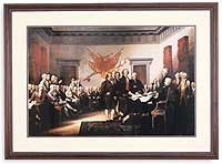 Signing of the Declaration of Independence(Cherry Frame)