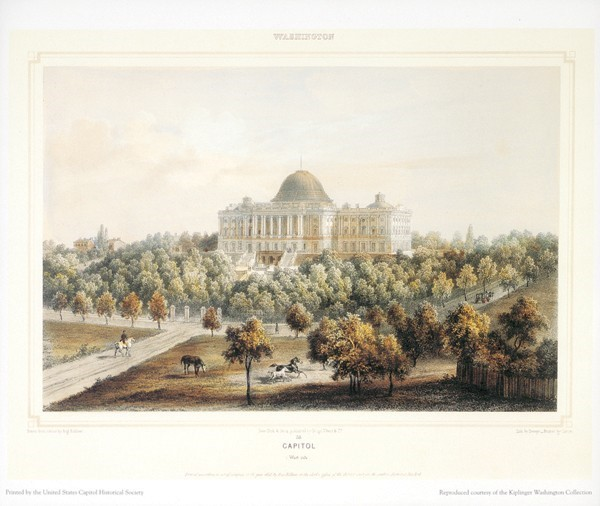 Kiplinger Print: Washington Capitol 1848 (Unframed)