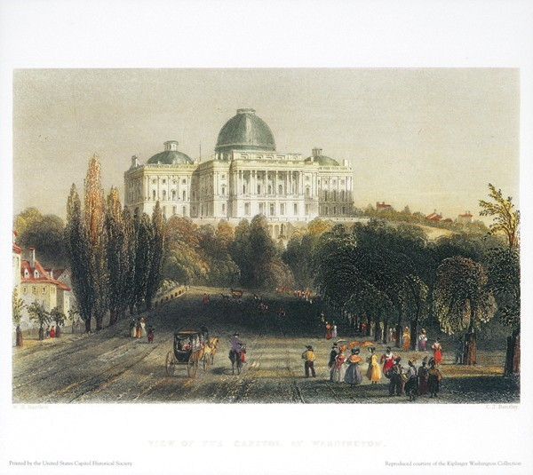 Kiplinger Print: View of Capitol in Washington (Unframed)