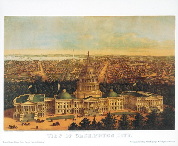 Kiplinger Print: View of Washington City 1871 (Unframed)