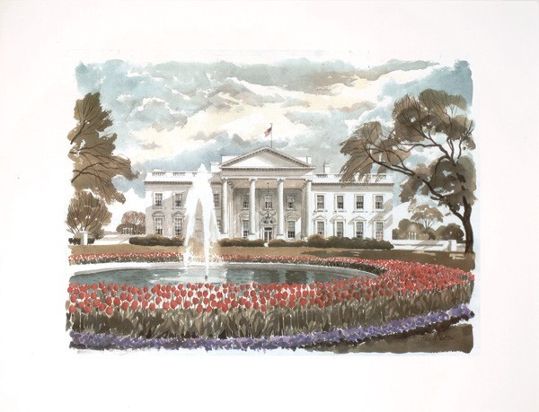 Norton Print: White House (Unframed)
