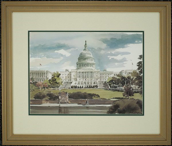Norton Print: West Front (Framed)
