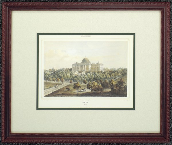 "Framed ""Washington Capitol"""