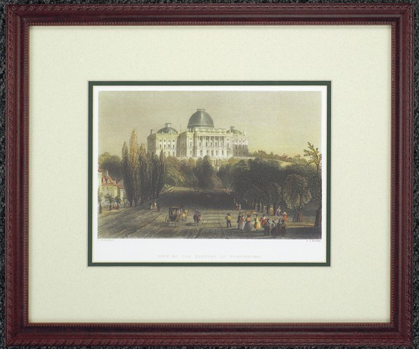 "Framed ""View of Capitol in Washington"""