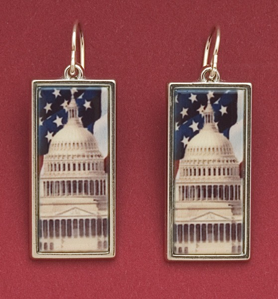 Walter Flag Earrings