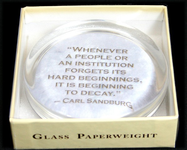 """Whenever a people..."" Paperweight"