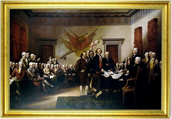 Framed Canvas Declaration of Independence