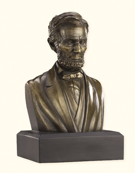 6-inch Bronze Resin Lincoln  Bust