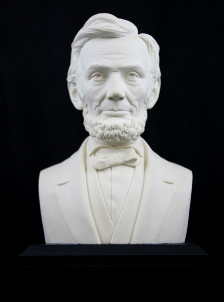 6-inch Marble Resin Lincoln Bust