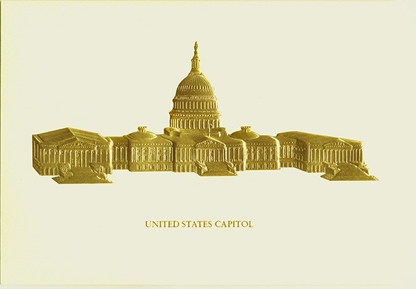 Gold Embossed Capitol Note Cards