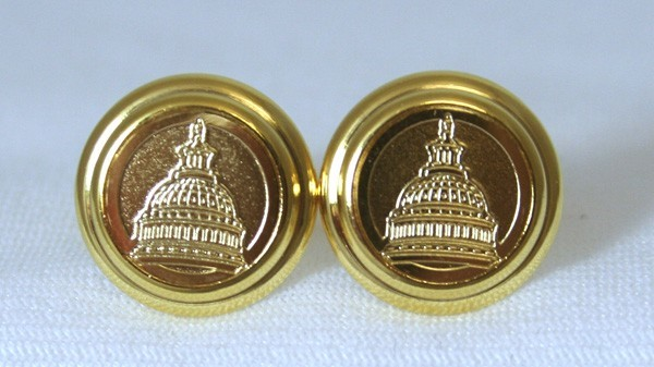 Gold Etched Capitol Cufflinks