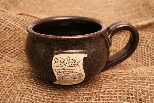 We the People Stoneware Chili Mug