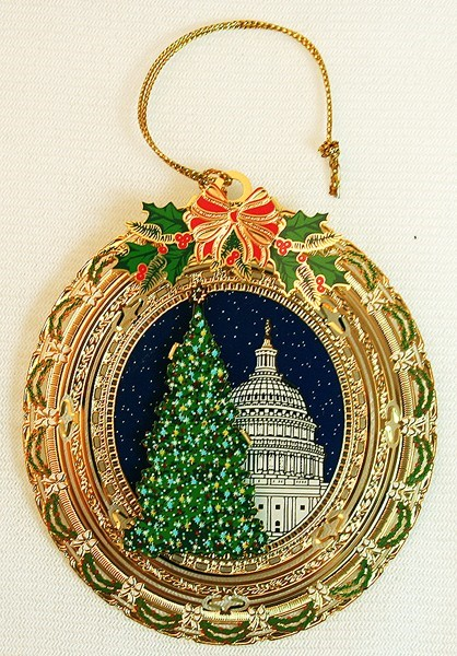 2010 Oval Capitol Dome and Tree Ornament