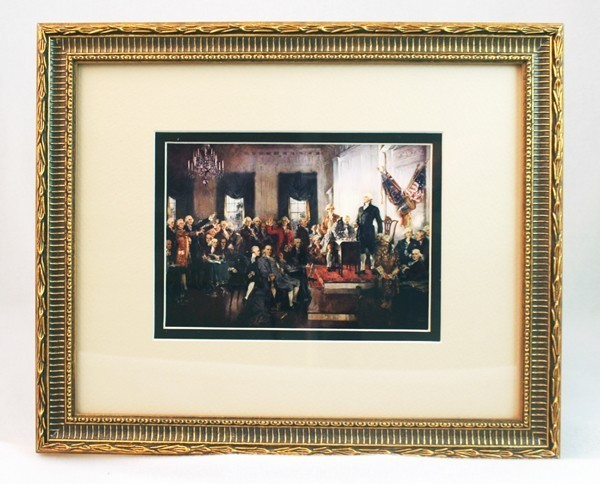 Framed Signing of the Constitution Postcard