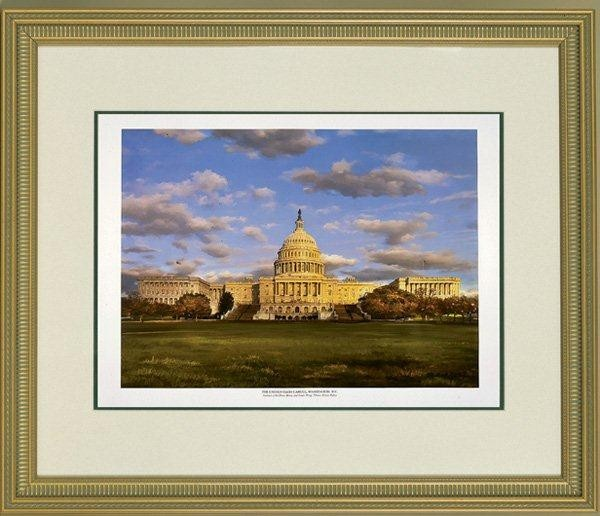 Framed Architect of the U.S. Capitol Dome Print