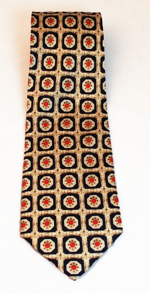 Architectural Element Tie - Navy