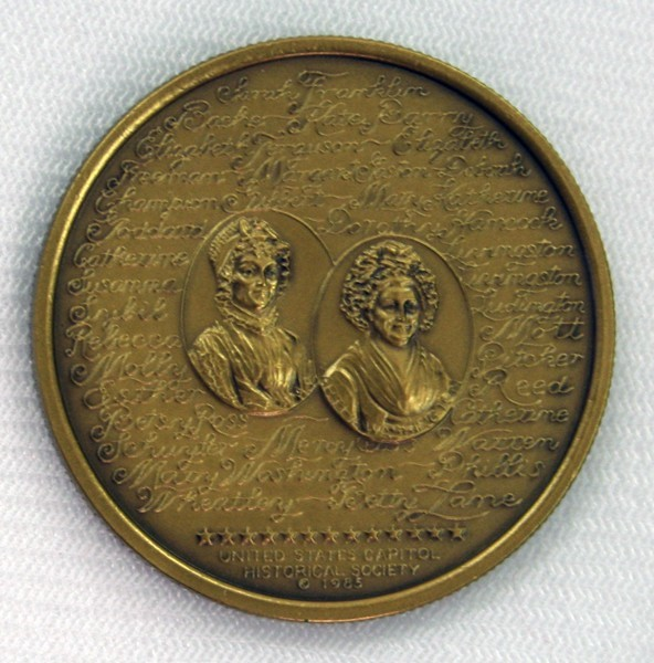"Bronze 1 1/2"" Revolutionary War Women Medal"