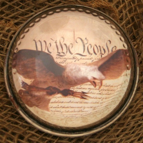 Eagle & Constitution Paperweight