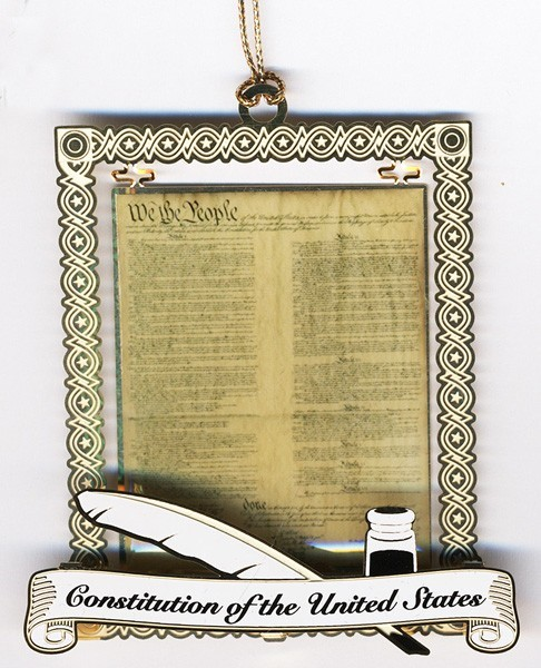 Constitution Document Ornament