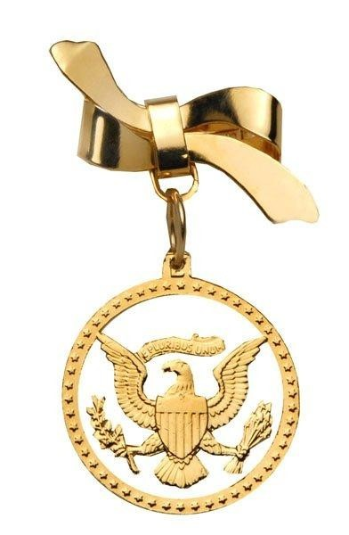 U.S.A. Bow Pin with Eagle