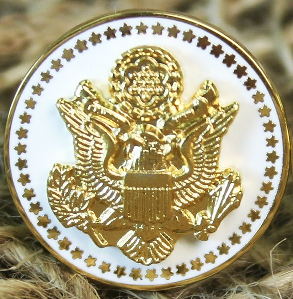 Great Seal Presidential Lapel Pin - White