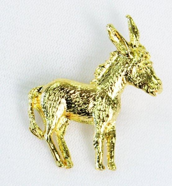Gold Donkey Pin