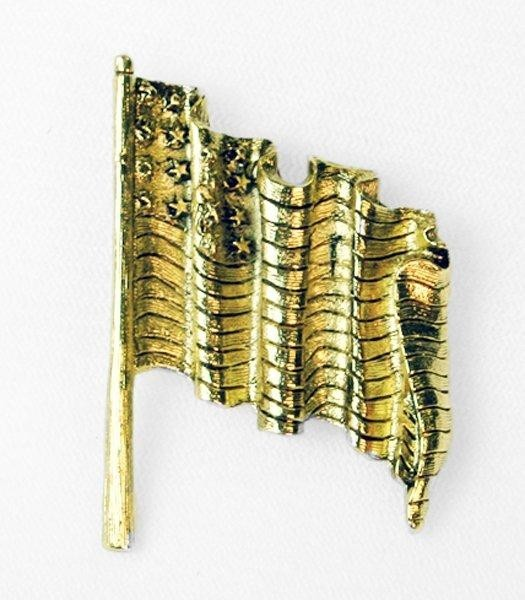 Rustic Flag Brooch