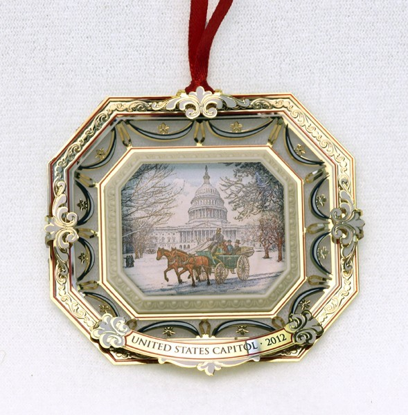 2012 Marble Carriage Ornament