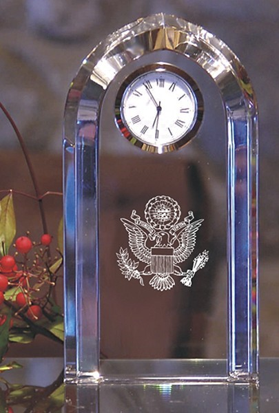 Great Seal Crystal Clock