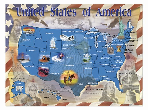 Map of the United States Puzzle
