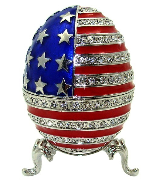 Patriotic Egg Trinket Box
