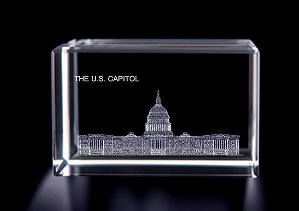 Crystal Capitol Paperweight