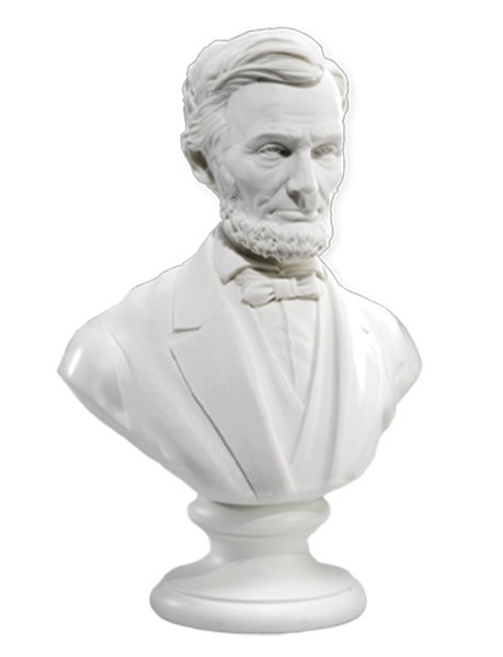"3"" Marble Lincoln Bust"