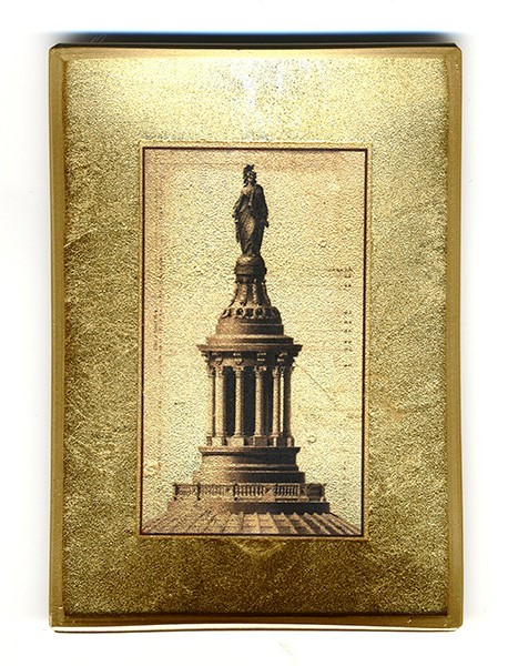 Statue of Freedom Gilded Tray