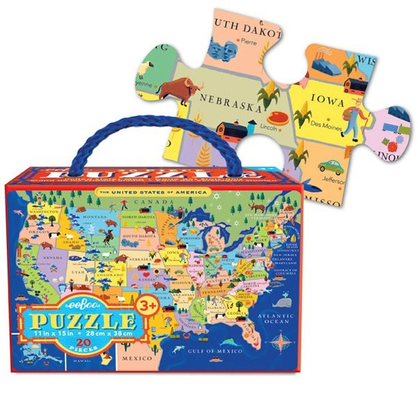 20-PC USA Travel Puzzle