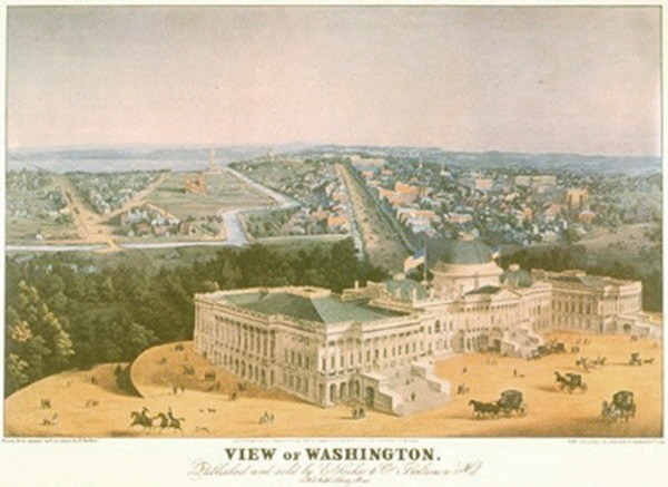 Washington DC 1852 Print