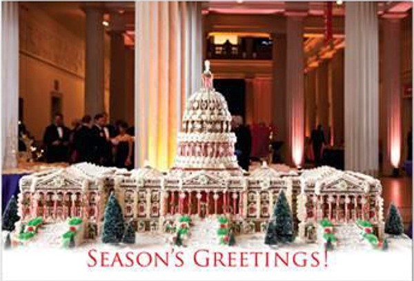 """U.S. Capitol in Gingerbread"" Holiday Card"