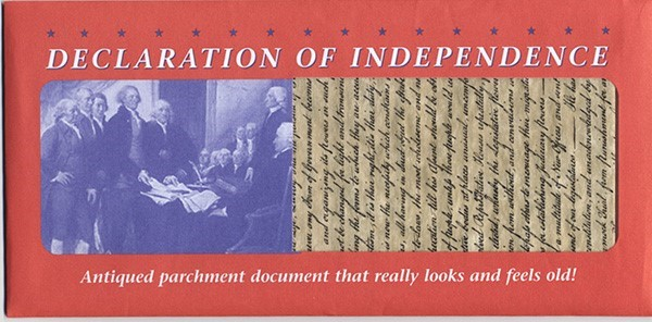 Parchment Declaration of Independence Replica