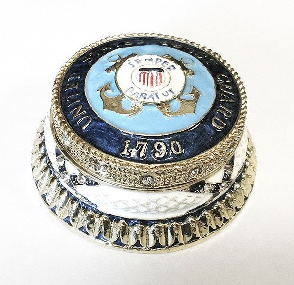 Coast Guard Jeweled Box